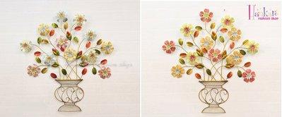 ☆[Hankaro]☆ 浪漫歐式鐵藝半立體效果花朵牆壁掛飾(時尚經典/端莊大氣)