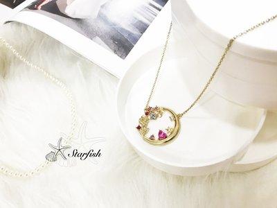 【海星 Starfish】唯美之戀玫瑰知心水鑽項鍊