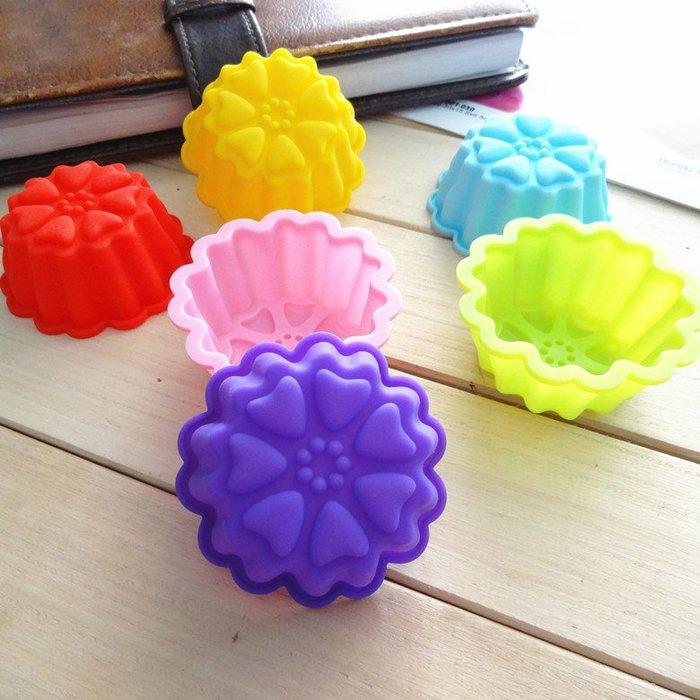 千夢貨鋪-烘焙模具食品級硅膠果凍布丁模具手工皂模具蛋糕模具5厘米小花#手工皂#香皂#製作材料#去螨蟲#清潔