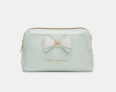 出清現貨~英國Ted Baker  AIMEE Curved bow make up bag女盥洗包、化粧包