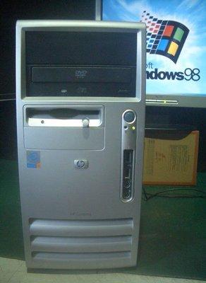 【窮人電腦】跑Windows 98系統工商業專用機!HP惠普原廠主機出清!桃園中壢以北免費外送!