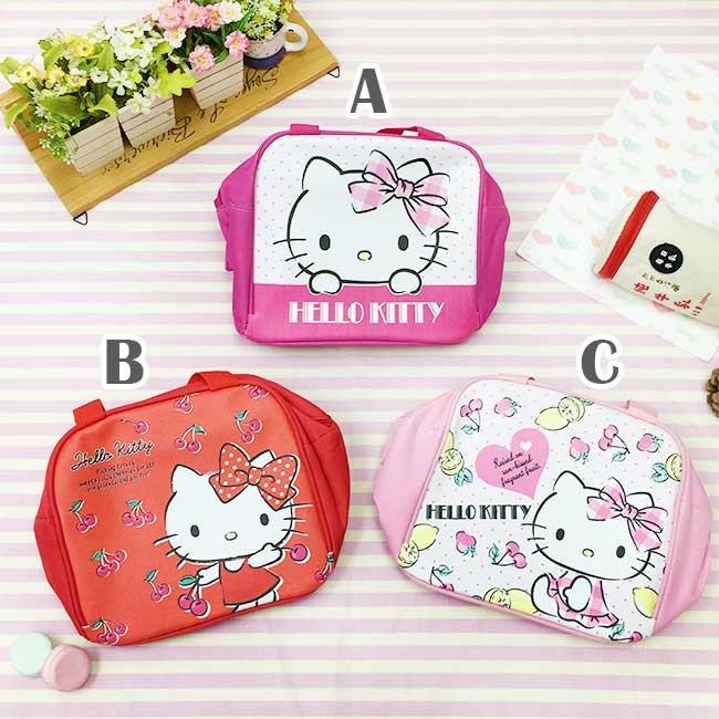 餐袋 三麗鷗 Hello Kitty 點點 櫻桃 水果 皮質 帆布 保溫保冷 便當袋 提袋 正版授權