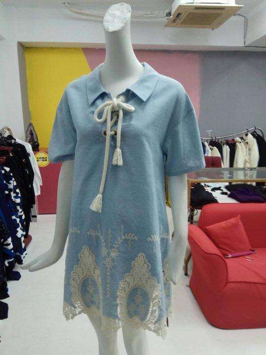 RoLa148藍色M洋裝