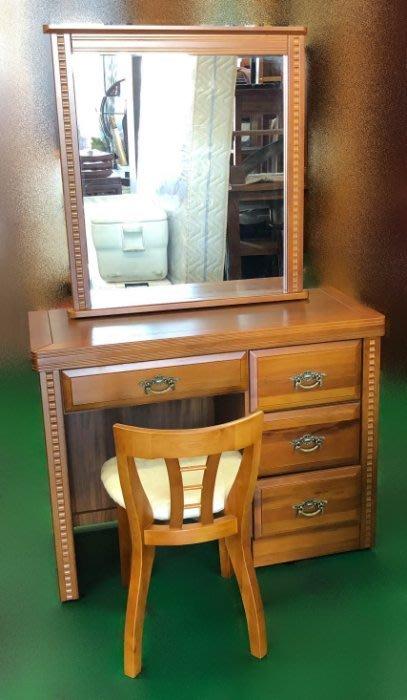 【宏品二手家具館】OH-102FJC*全新樟木化妝鏡+椅*化妝台/梳妝鏡台 庫存臥室傢俱拍賣床組 床箱 床底 床板