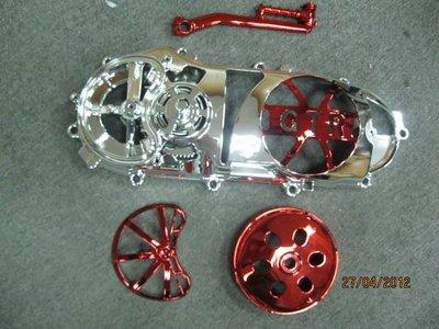 【有間烤漆】專業機車電鍍銀鋁的傳動蓋成品一律1100(新勁戰 RV 馬車 迪爵 GTR 雷霆 Fighter )