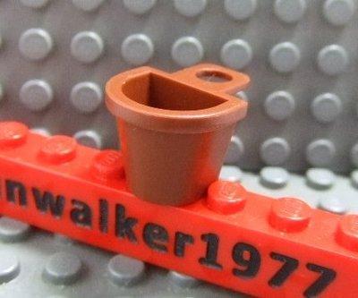 【積木1977-道具】Lego樂高-全新-紅棕色背籃 / 紅棕色背袋 (Reddish Brown)(U-13)
