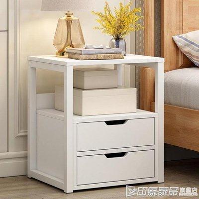 簡易床頭櫃簡約現代經濟型臥室收納床邊小...
