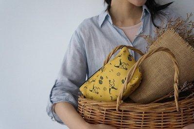 【 にっぽん CHACHACHA 】日本文化象徵逗趣插圖 帆布 拉鍊 式 化妝包 零錢 零錢 日本製