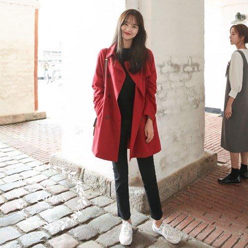 【ZEU'S】韓國秋裝新款休閒百搭風衣外套『 09117710 』【現+預】IA