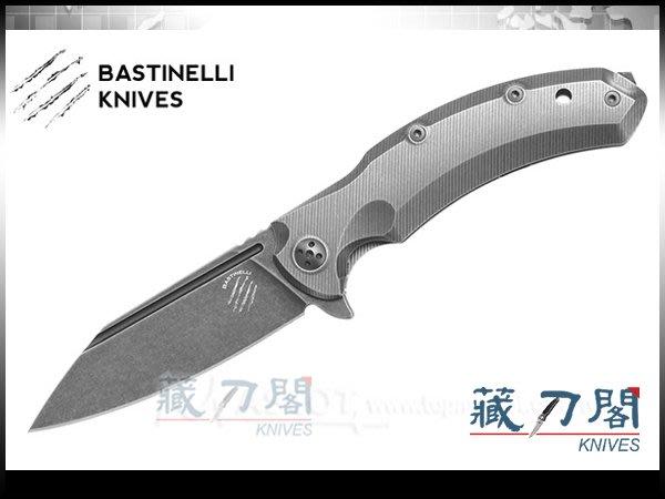《藏刀閣》Bastinelli-(TRIGGER)觸發鈦柄快開折刀