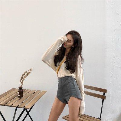 女黑色2020新款性感彈力褲顯瘦熱褲韓版不規則高腰緊身牛仔超短褲