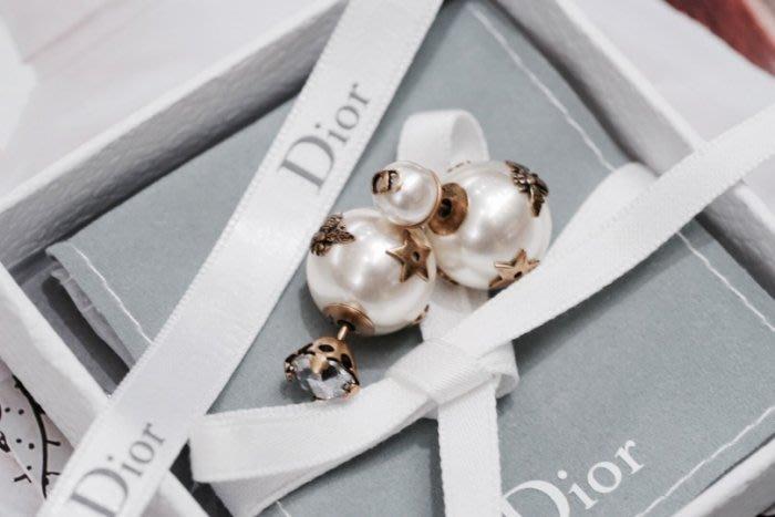 Dior E0665TRIRS Stud CD with big pearl CD 小蜜蜂珍珠耳環 白