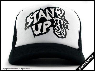 B《 MOREHOW 》STAND UP CAP 網帽 黑/白配色 卡車帽 優惠免運費