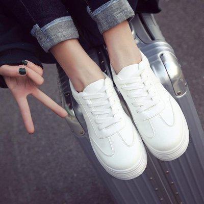 大碼運動鞋 小白鞋大碼女鞋41-43春季2020新款平底運動鞋 歐米伽小衣 可開發票免運