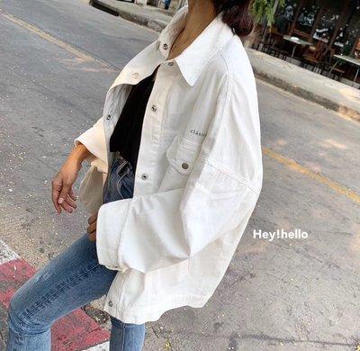 (限時優惠-現貨)韓國春夏寬鬆薄款水洗棉外套夾克