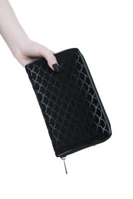 【丹】KS_Black Sea Wallet 黑色 海浪 風格 長夾 皮夾