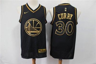 史蒂芬·柯瑞 (Stephen Curry) NBA金州勇士隊30號 球衣 黑金色