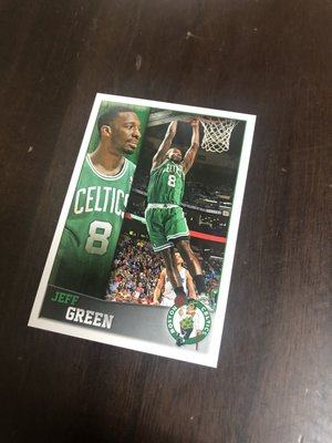 JEFF GREEN  2013 PANINI 6 貼紙卡 少見 可送鑑定 卡片正反面如圖