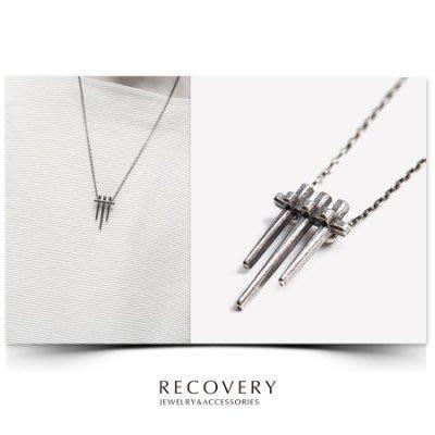 美國東村【Recovery】Beam Necklace 光束項鍊 (古銀/黑銀/古金)