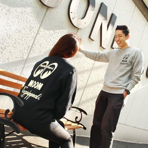 (I LOVE樂多)MOONEY Logo Sweatshirt LOGO 打印 雪花大學T 圓領T