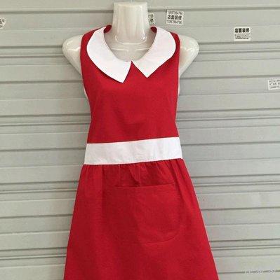 居家家 簡約圍裙服務員工作美發店專用防污防塵加厚可愛新款韓版