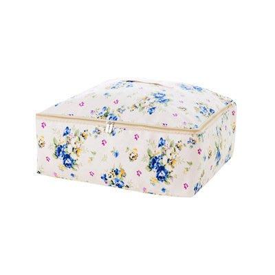 粉紅玫瑰精品屋~藍色碎花居家家衣物收納袋衣服整理袋~