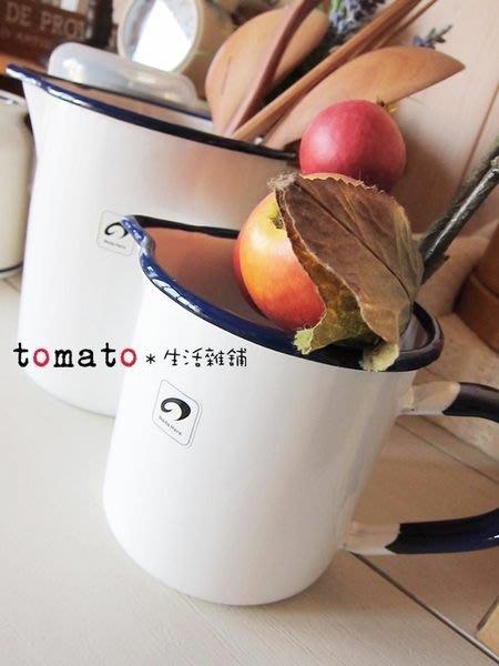 ˙TOMATO生活雜鋪˙日本雜貨Noda Horo日本製潔淨純白感素雅雙配色量杯琺瑯杯/小款
