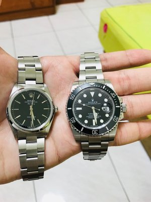 已售)無盒單 二手 Rolex 14000M 男錶 中性錶 錶徑34mm 具備防偽皇冠 可上rsc
