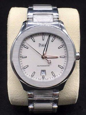 重序名錶 PIAGET 伯爵 PIAGET POLO S 白色雕紋面盤 G0A41003 IN8724 自動上鍊腕錶