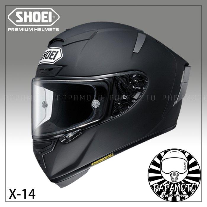 【趴趴騎士】SHOEI X14 全罩安全帽 消光黑 ( X-14 X-Fourteen SNELL 賽車等級