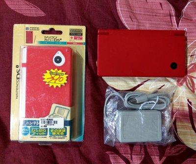 NDSi 紅色 主機 附變壓器與保護套 編號B