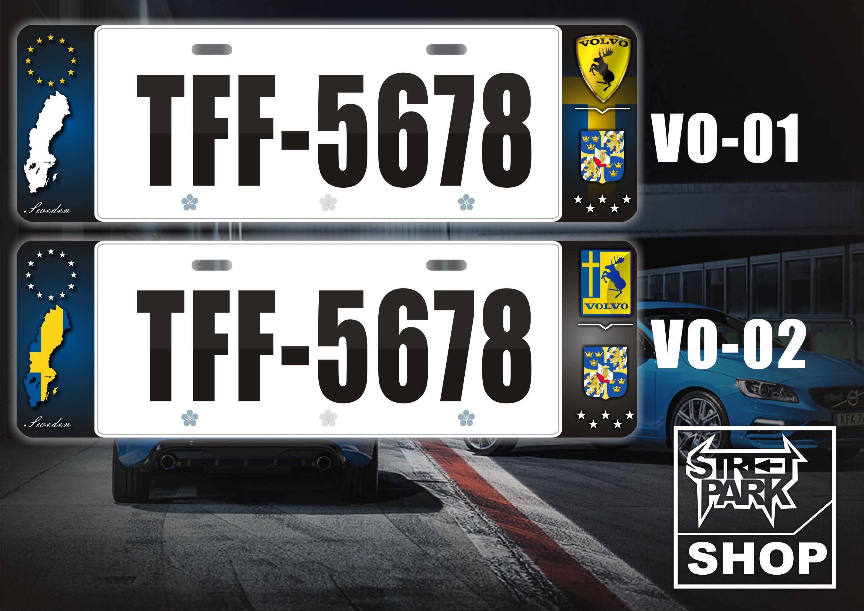 【STREET PARK】訂製 歐盟 車牌裝飾 VOLVO XC40 XC60【原價780$ 特價 580$】