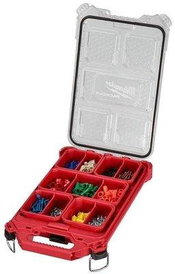 【小人物五金】全新 Milwaukee 米沃奇 48-22-8436 收納箱 可堆疊 零件盒 工具箱