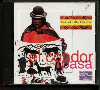 CD滿3張免運【BEST OF LATIN AMERICA~EL CONDOR PASA】拉丁美洲老鷹之歌法國版~免競標