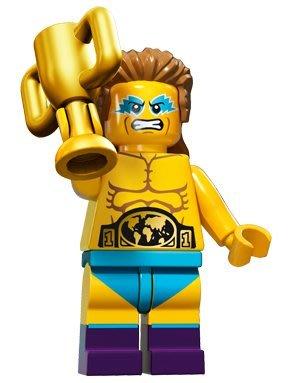 現貨【LEGO 樂高】積木/ Minifigures人偶系列: 15 代人偶包抽抽樂 71011   摔角選手 冠軍