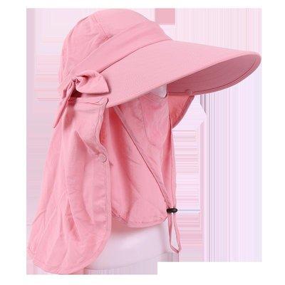 熱賣新品-遮臉遮陽帽戶外帽子女夏天大沿防曬帽防紫外線騎車太陽帽男可折疊#遮陽帽#防曬帽