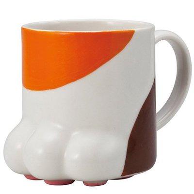 sunart日本正版貓腳掌 肉球馬克杯 (三色貓),討喜可愛又療癒,絕對是您下午茶的好夥伴