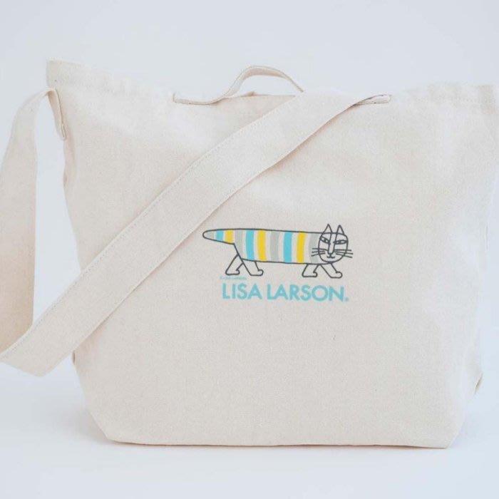 [瑞絲小舖]~日雜ESSE增刊附錄LISA LARSON兩用肩背提包 托特包 斜肩包 側背包 單肩包 購物袋 環保袋