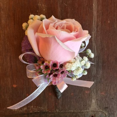 H15。主婚人胸花。婚禮用胸花。粉玫瑰胸花。招待胸花。自取【Flower&House花藝之家】