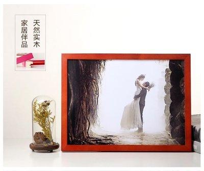 相框 定制歐式簡約實木畫框定做照片掛牆廣告畫創意拼圖框裝裱國畫相框訂制 LP