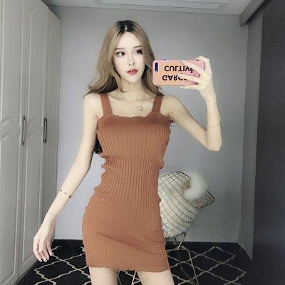 格格家 夏裝新款性感木耳邊露肩純色高腰短裙吊帶修身包臀連衣裙