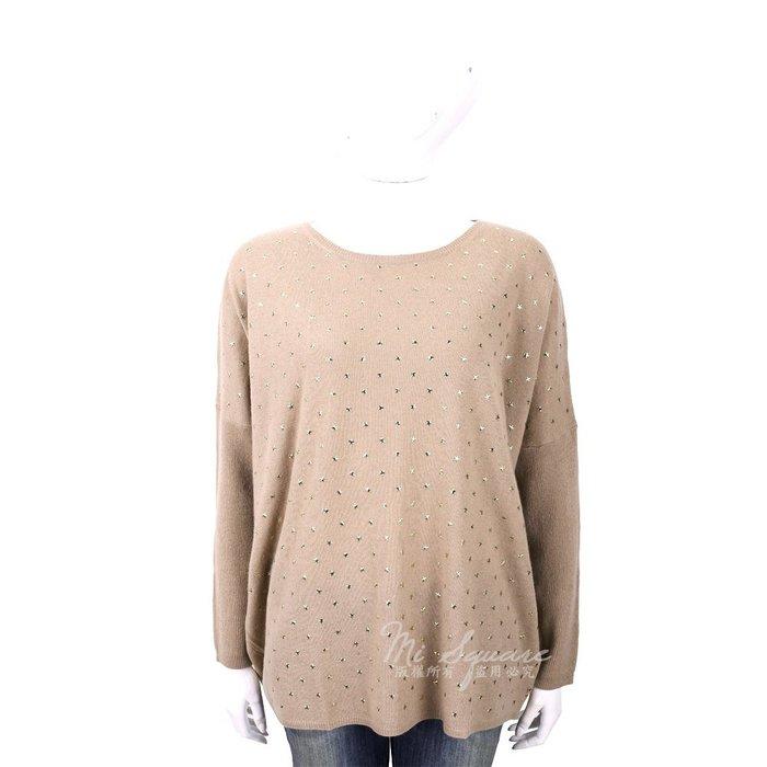 米蘭廣場 ALLUDE 喀什米爾卡其色星星鉚釘飛鼠袖針織羊毛衫 1740224-02