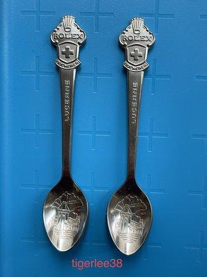 [老排的收藏]~~企業品牌~Rolex勞力士紀念小湯匙,2支一標.