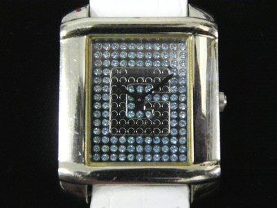 石英錶 [GUESS I65100L2] GUESS 方型潮錶[淺藍鑽面]中性/時尚錶