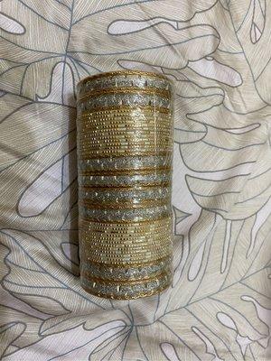 印度手環銀色帶金