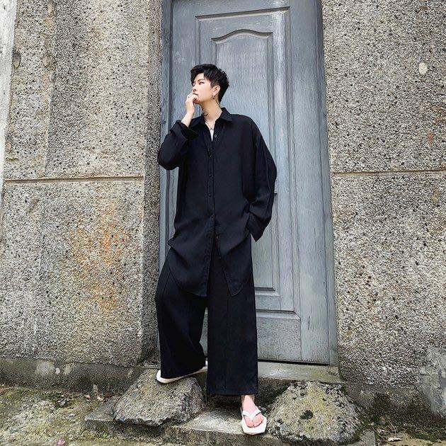 FINDSENSE 2019 秋季上新 G19 日系簡約復古流行百搭個性時尚潮流長袖襯衫素面襯衫 男裝 上衣