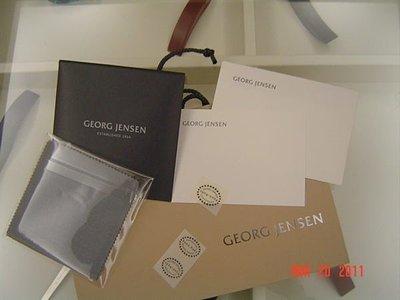 GEORG JENSEN 喬治傑生 經典拭銀布+生日賀卡 ( 內附有G.J貼紙 ) 特價:300元