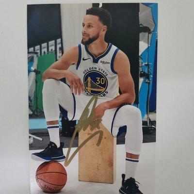 【庫里親筆簽名照】NBA籃球明星簽名照 庫里同款 6寸 保真無印刷