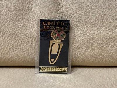 國外帶回 凱爾特人的書籤 celtic book mark 鍍金書籤 書卡