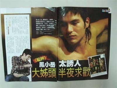 """鳳小岳 太誘人 (電影 艋舺 獨家畫面 ) """" 雜誌內頁4面 """" 2010年"""